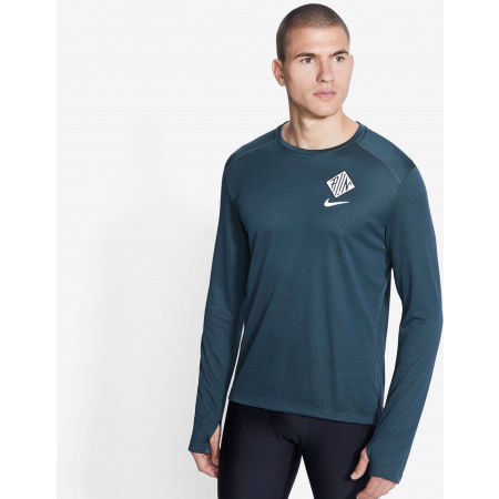 Men's long sleeve running T-shirt - Nike PACER CREW WR GX M - 3
