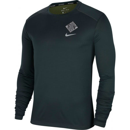 Men's long sleeve running T-shirt - Nike PACER CREW WR GX M - 1