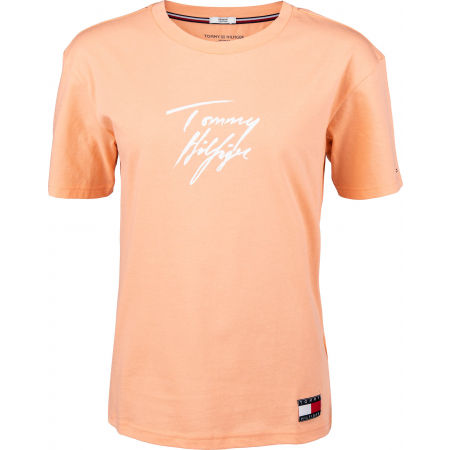 Dámske tričko - Tommy Hilfiger CN TEE SS LOGO - 1