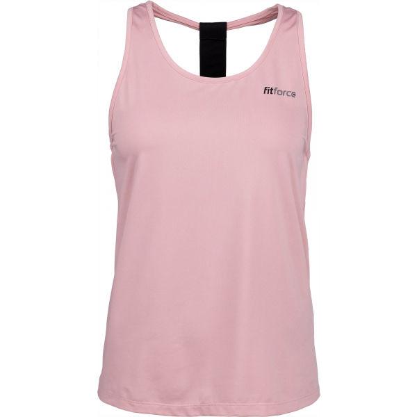 Fitforce KAPALI růžová XS - Dámský fitness top