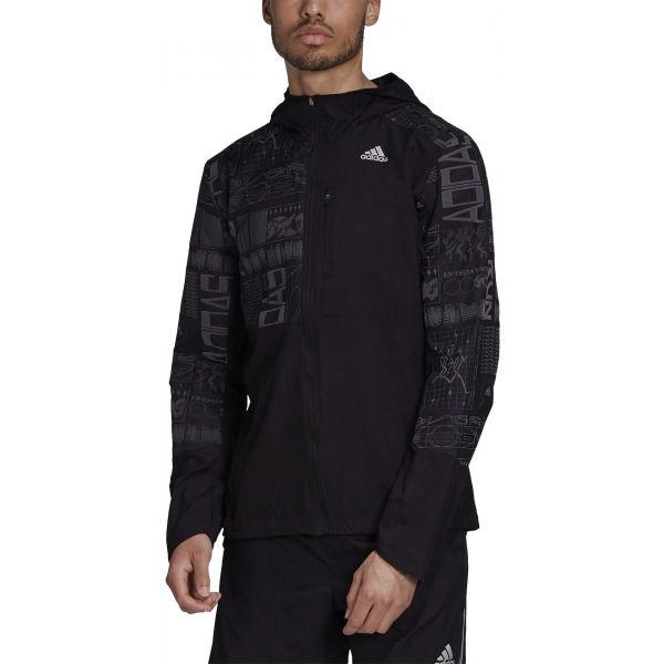 adidas OWN THE RUN JKT čierna M - Pánska bežecká bunda