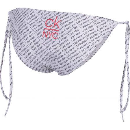 Dámský spodní díl plavek - Calvin Klein STRING SIDE TIE-PRINT - 3
