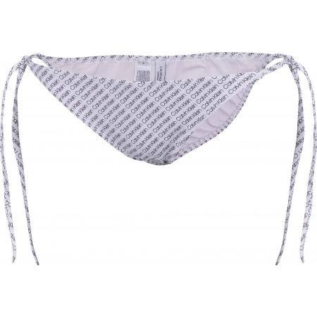 Dámský spodní díl plavek - Calvin Klein STRING SIDE TIE-PRINT - 1