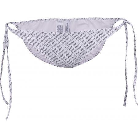 Dámský spodní díl plavek - Calvin Klein STRING SIDE TIE-PRINT - 2