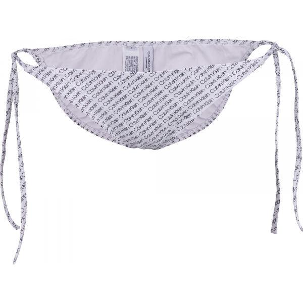 Calvin Klein STRING SIDE TIE-PRINT - Dámsky spodný diel plaviek