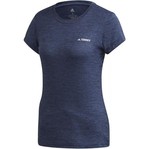 adidas TIVID TEE modrá 36 - Dámske tričko