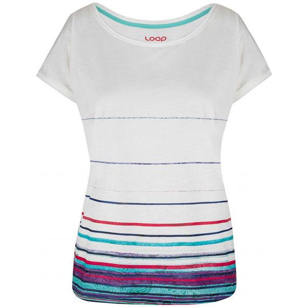 Loap ALBY bílá S - Dámské triko