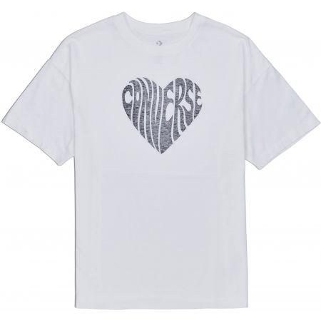 Converse WOMENS HEART REVERSE PRINT TEE - Damenshirt