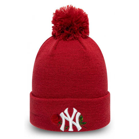 New Era MLB TWINE BOBBLE KNIT KIDS NEW YORK YANKEES - Зимна шапка за момичета
