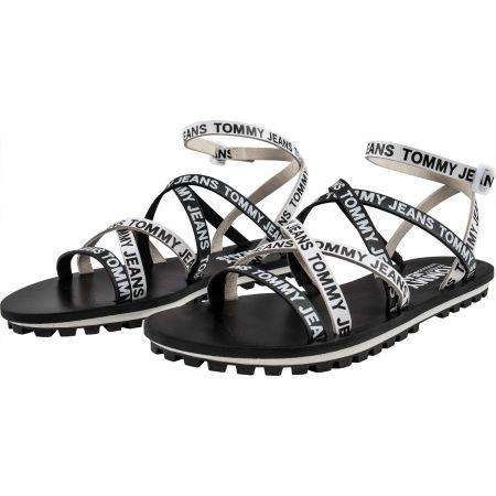Dámske sandále - Tommy Hilfiger COLOR BLOCK CLEATED FLAT SANDAL - 2