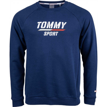 Men's sweatshirt - Tommy Hilfiger PRINTED FLEECE CREW - 1