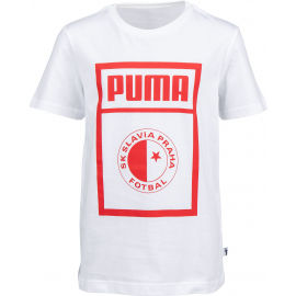 Puma SLAVIA PRAGUE GRAPHIC TEE JR - Juniorské tričko