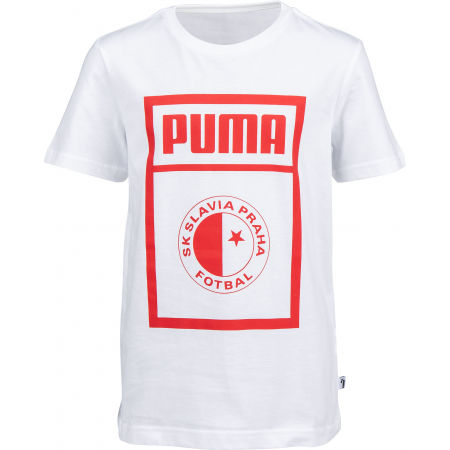Puma SLAVIA PRAGUE GRAPHIC TEE JR - Juniorské triko