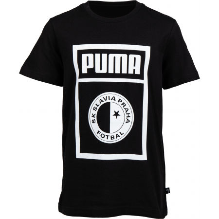 Juniorské tričko - Puma SLAVIA PRAGUE GRAPHIC TEE JR - 1