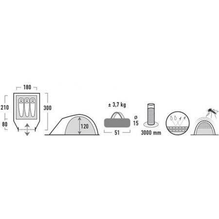 Namiot turystyczny - High Peak NEVADA 3.0 - 10