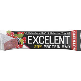 Nutrend EXCELENT ČIERNA RÍBEZĽA 85g - Proteínová tyčinka