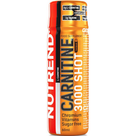 Nutrend CARNITINE 3000 SHOT POMARANČ - L- karnitin
