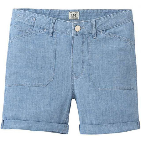 Lee SEASONAL SHORT BLEACHBEACHBLUE - Pantaloni scurți damă