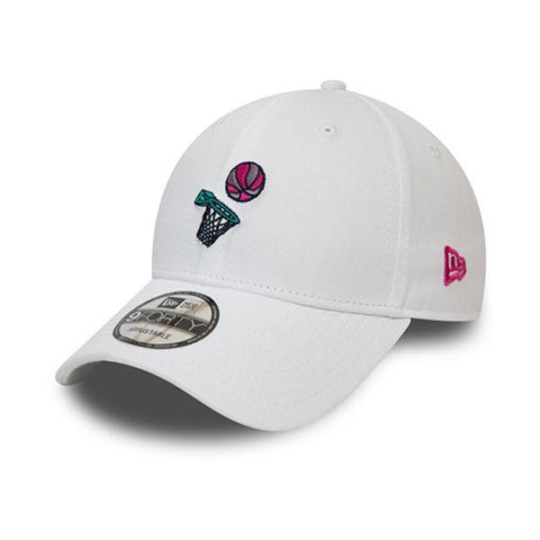 New Era NEW ERA 9FORTY BASKETBALL WHITE CAP - Dámska šiltovka