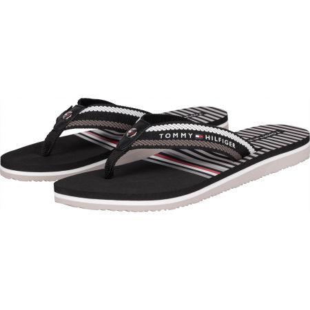 Women's flip-flops - Tommy Hilfiger STRIPY FLAT BEACH SANDAL - 2