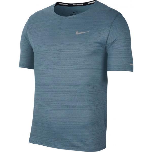Nike DRI-FIT MILER modrá S - Pánské běžecké tričko