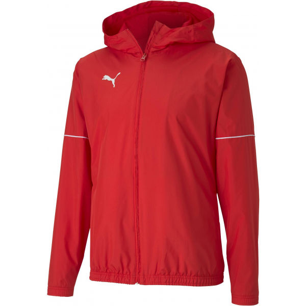 Puma TEAM GOAL RAIN JACKET červená Pánska športová bunda XL Puma