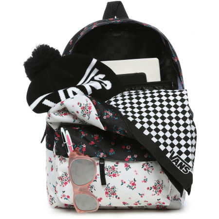 Дамска раница - Vans WM REALM CLASSIC BACKPACK BEAUTY FLORAL PATCHWORK - 2