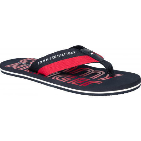 Tommy Hilfiger SUSTAINABLE TOMMY BEACH SANDAL - Pánske žabky