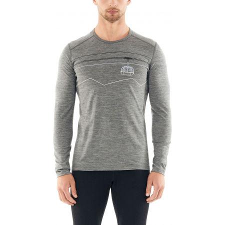 Men's functional T-shirt - Icebreaker 200 OASIS LS CREWE PEAK TO PEAK LIFT - 2