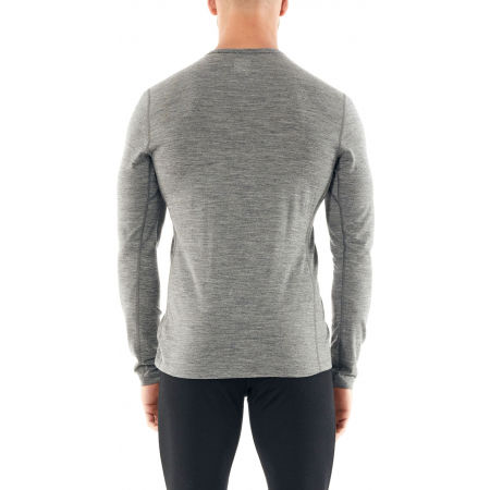 Men's functional T-shirt - Icebreaker 200 OASIS LS CREWE PEAK TO PEAK LIFT - 3