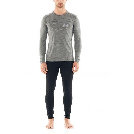 Men's functional T-shirt - Icebreaker 200 OASIS LS CREWE PEAK TO PEAK LIFT - 4