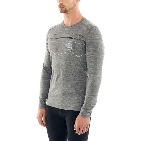 Men's functional T-shirt - Icebreaker 200 OASIS LS CREWE PEAK TO PEAK LIFT - 5