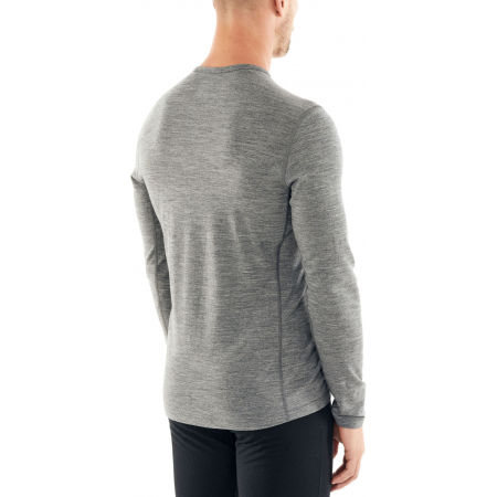 Men's functional T-shirt - Icebreaker 200 OASIS LS CREWE PEAK TO PEAK LIFT - 6