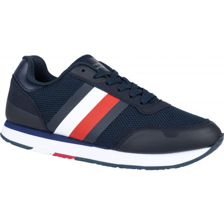 Tommy Hilfiger CORPORATE MATERIAL MIX RUNNER - Pánska voľnočasová obuv