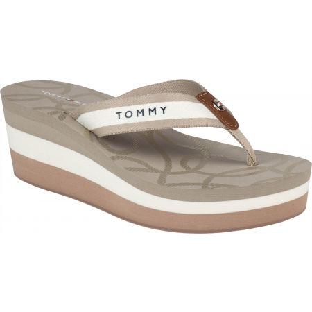 Dámske žabky - Tommy Hilfiger NAUTICAL HIGH WEDGE BEACH SANDAL - 1