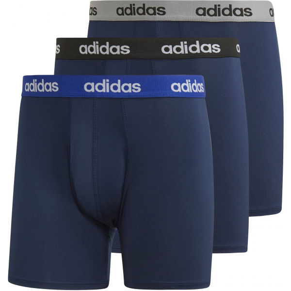 adidas CC 3PP BRIEF tmavo modrá S - Pánske boxerky