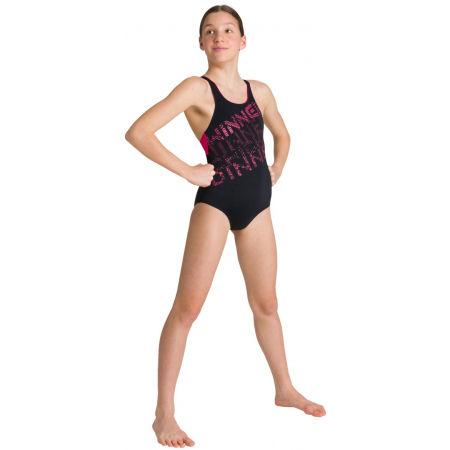 Girls' one-piece swimsuit - Arena RHYMING JR SWIM PRO BACK ONE PIECE - 8