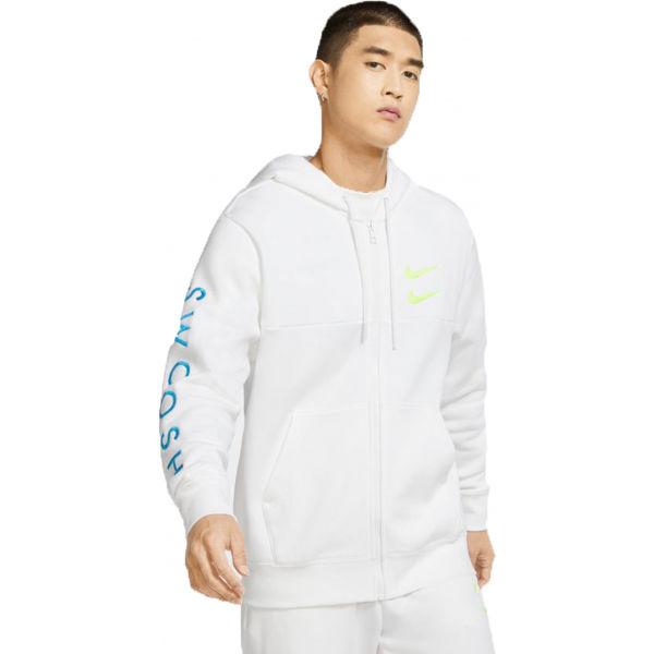 Nike NSW SWOOSH HOODIE FZ SBB M biela XL - Pánska mikina