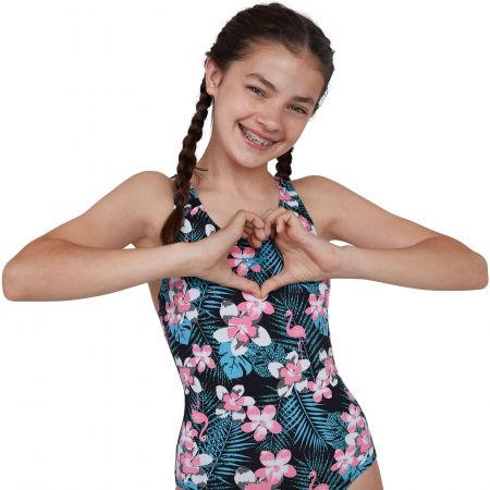 Цял бански за момичета - Speedo JUNGLEGLOW ALLOVER SPLASHBACK - 3