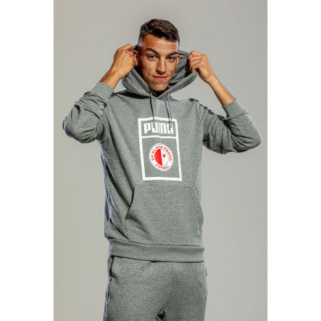 Men's sweatshirt - Puma SLAVIA PRAGUE GRAPHIC HOODY - 5