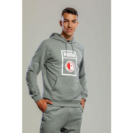 Men's sweatshirt - Puma SLAVIA PRAGUE GRAPHIC HOODY - 4