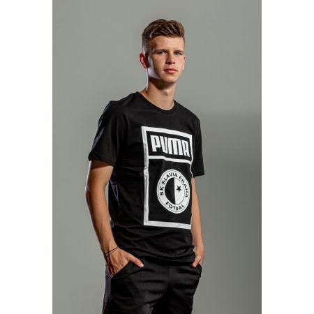 Мъжка тениска - Puma SLAVIA PRAGUE GRAPHIC TEE - 4