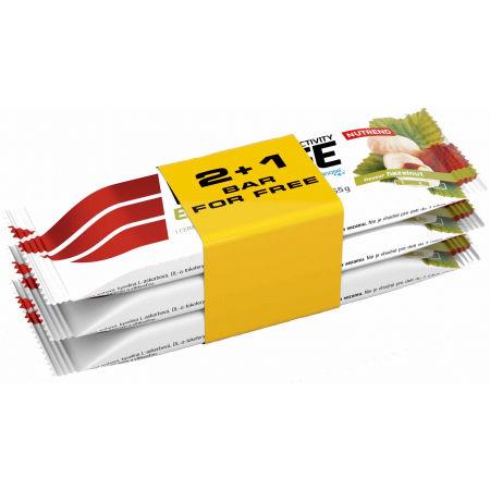 Nutrend VOLTAGE ENERGY LÍSKOVÝ OŘÍŠEK 2+1 65g - Energetická tyčinka