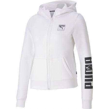 Hanorac femei - Puma REBEL FULL ZIP HOODIE FL