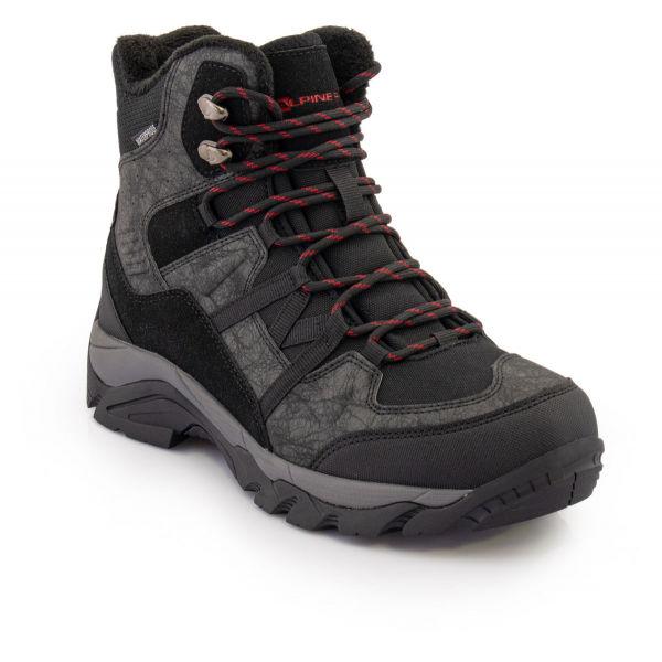 ALPINE PRO DARDAN sivá 43 - Pánska zimná obuv