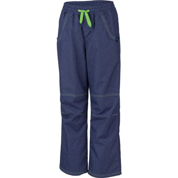 Lewro SIGI zelená 164-170 - Dětské zateplené kalhoty