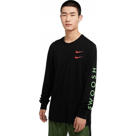 Pánske tričko - Nike NSW LS TEE SWOOSH PK M - 1
