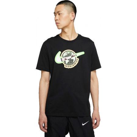 Koszulka męska - Nike NSW SS TEE SWOOSH WORLDWIDE M - 1
