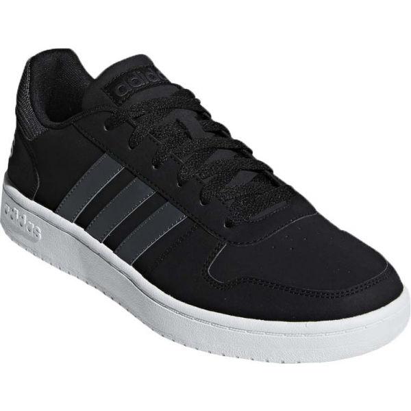 E-shop adidas HOOPS 2.0 černá 11.5 - Pánská vycházková obuv