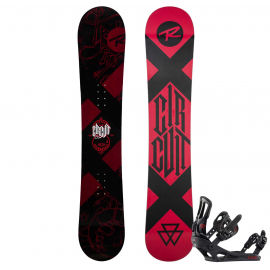 Rossignol CIRCUIT WIDE + BATTLE M/L - Pánsky snowboardový set